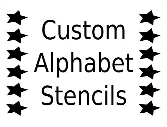 alphabet stencil font download