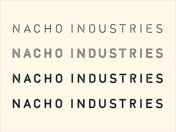 nacho type stencil font download