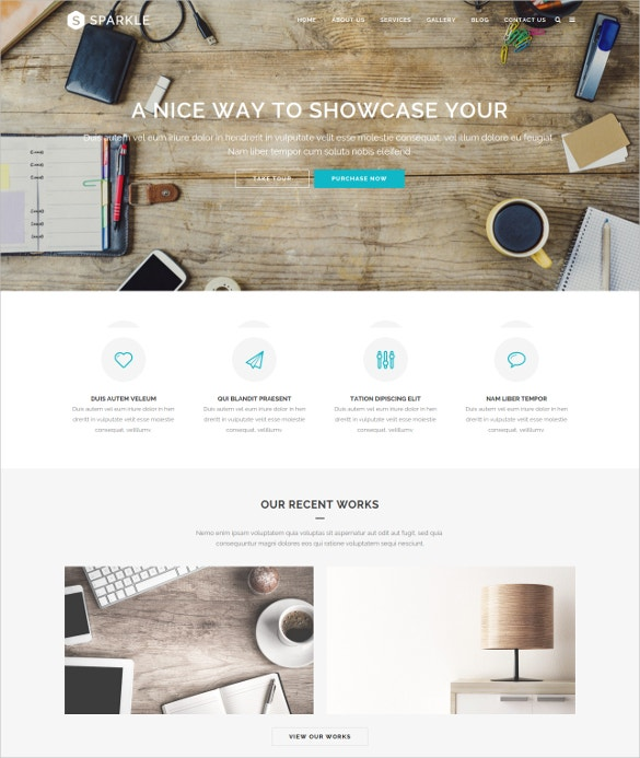 responsive html php template