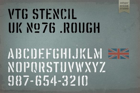 vtg stencil uk fonts free download