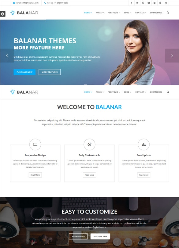 multipurpose business html php template