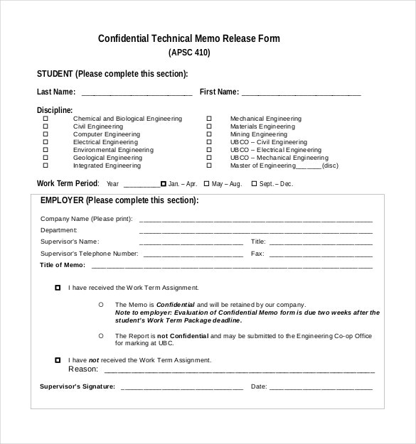confidential technical memo release form pdf download1