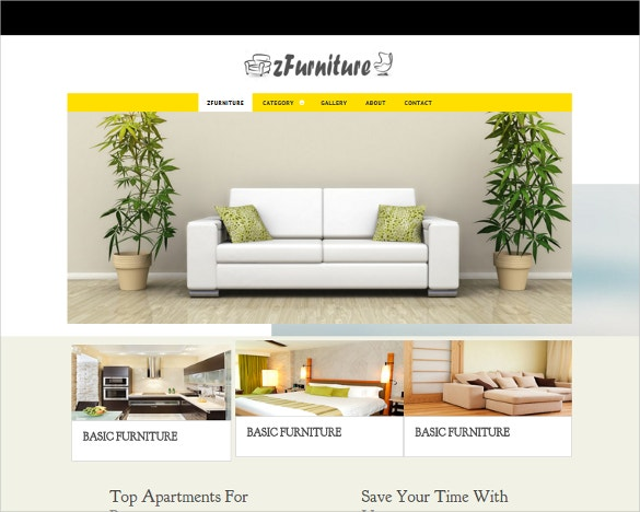 free responsive furniture html5 php template