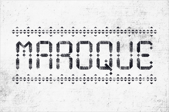 maroque stencil fonts download