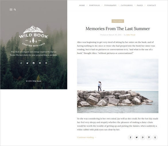 art stylish wordpress personal blog portfolio theme 39