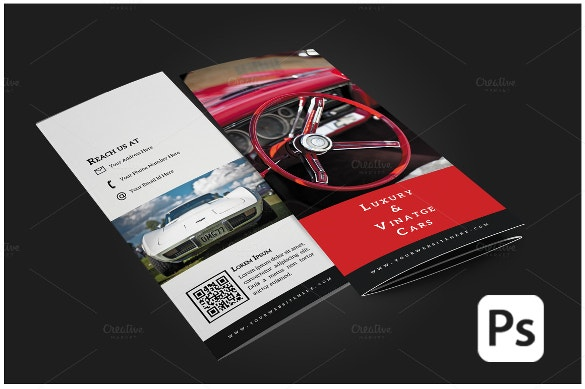Car brochure 25 free psd ai vector eps format for Automobile brochure design