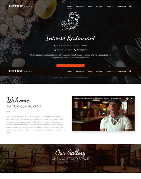 Restaurent Website Template