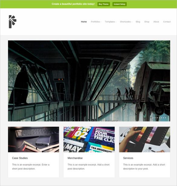 minimal art portfolio theme 69