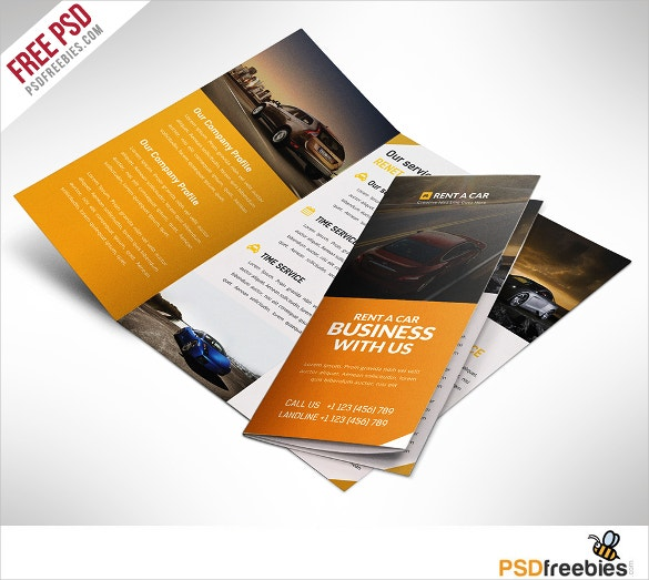 car dealer and services trifold brochure download