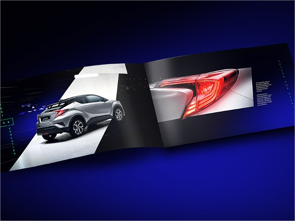beautiful blue colored car brochure download
