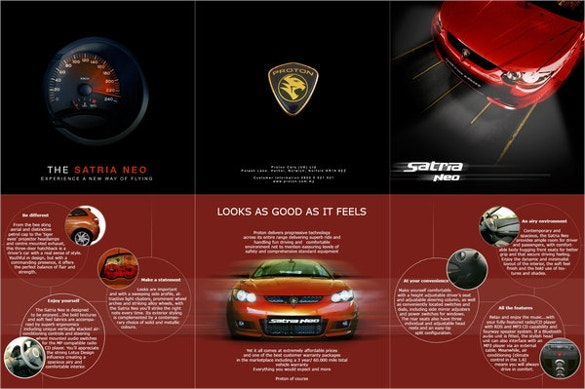 proton satria car brochure download