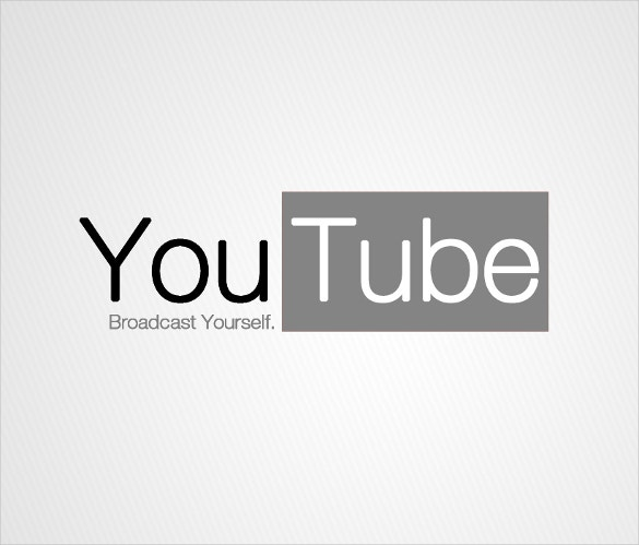 sample youtube logo instant download