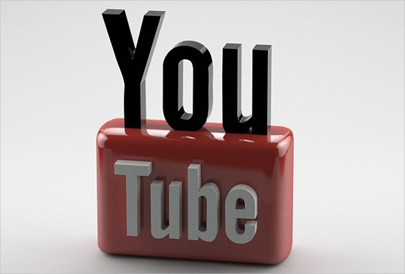 3d youtube logo free download1