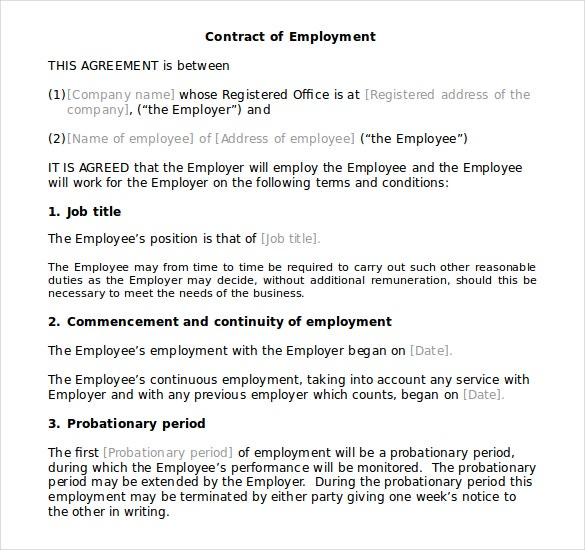 10 Microsoft Word Contract Templates Free Download – Microsoft Word Contract Template Free