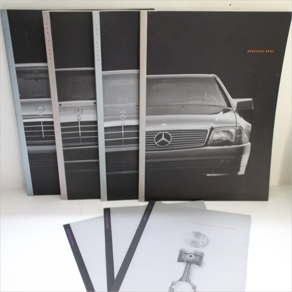 amazing mercedes benz car brochure