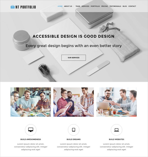 business art portfolio wordpress theme 19