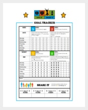 Goal Tracker Template PDF Format Template Download
