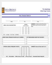 Goal Tracking Spreadsheet PDF Format Template Download