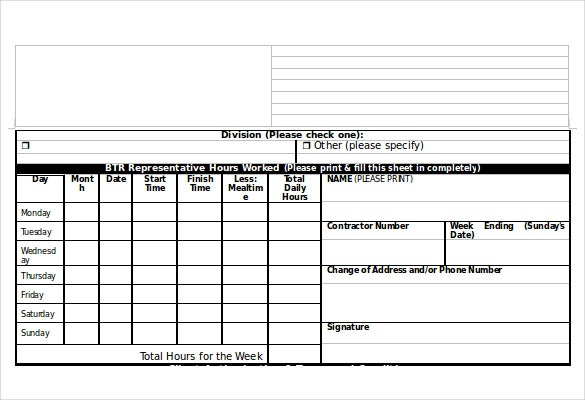 Timesheet Template Microsoft Word    Monthly Timesheet
