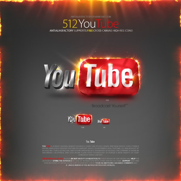 sample youtube icon free download