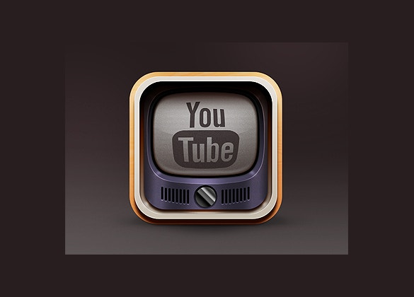 vintage youtube icon free download
