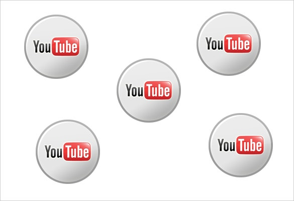 simply designed youtube icon free download