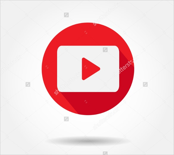 dark color youtube icon free download