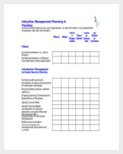 Example Induction Management Planning and Tracking Tool Template