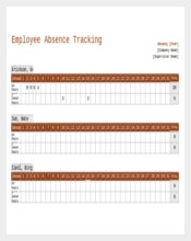Employee Absence Tracking Excel Format Template Download
