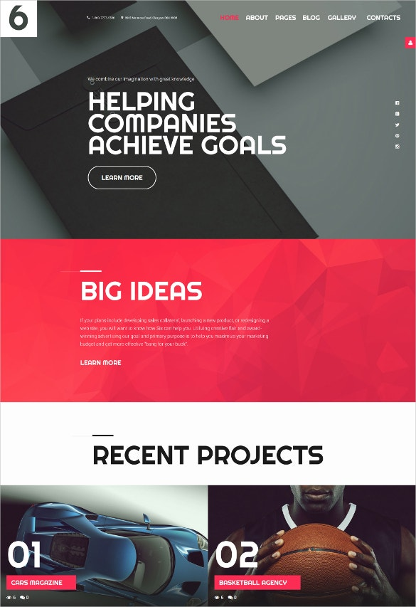 the best joomla template to think big