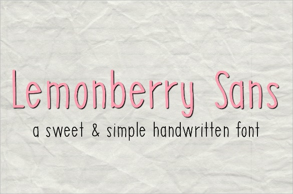 lemonberry sans handwritten font download