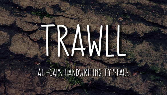 trawll handwritten fonts download