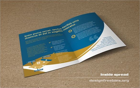 bifold booklet flyer indesign brochure template