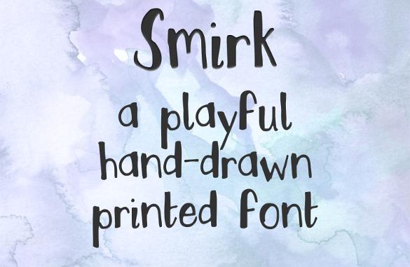 smirk handwritten font download