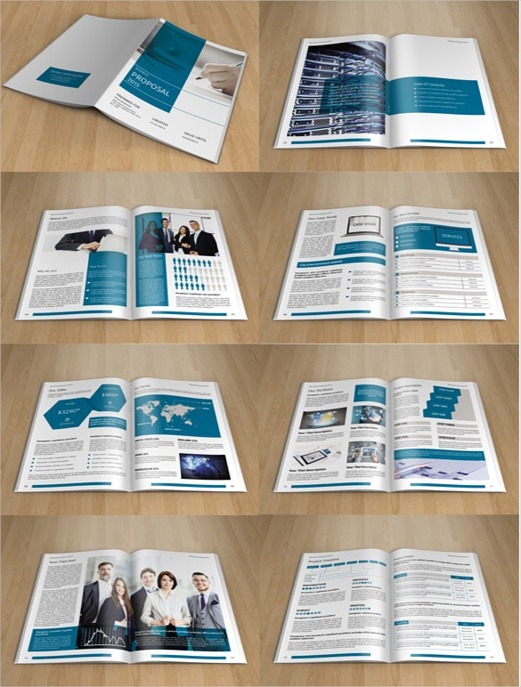 business proposal indesign brochure template download