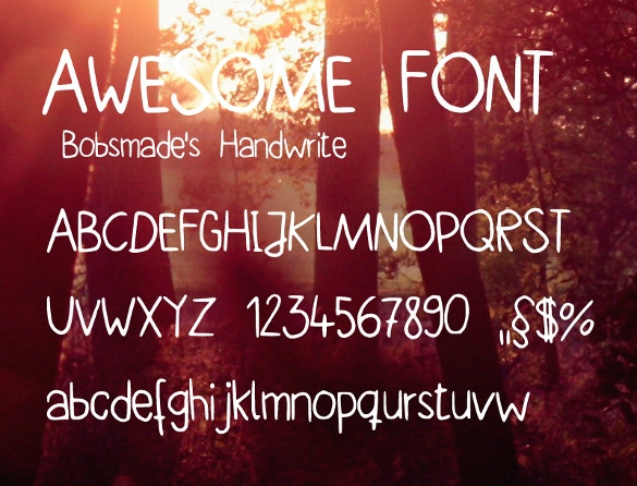 bobsmade handwritten fonts download