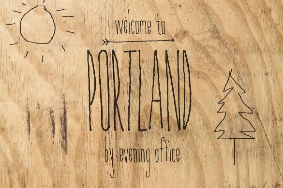portland handwritten font download