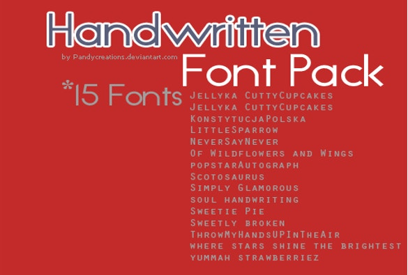 15 handwritten fonts font pack download
