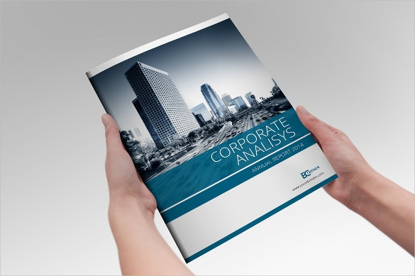 annual report indesign brochure template