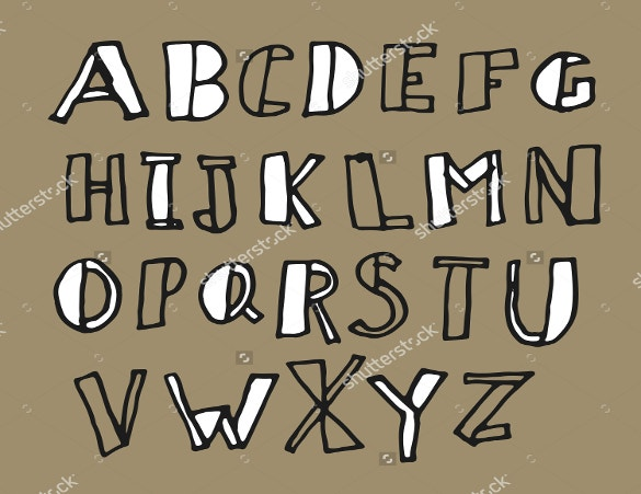 handwritten doodles alphabet fonts download