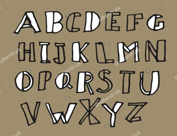 handwritten doodles alphabet fonts download