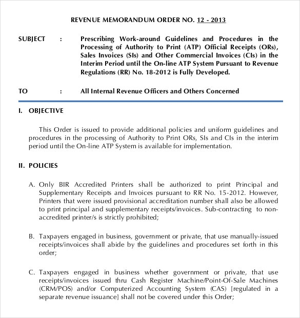 revenue debit memorandum order form example forat
