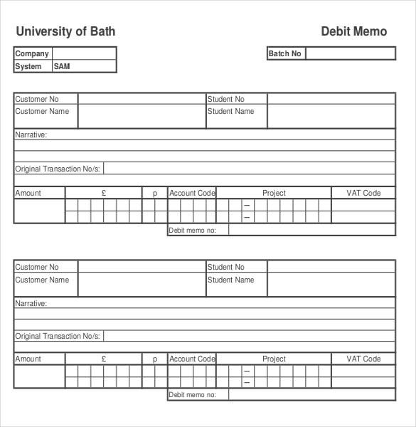 9 Debit Memo Templates Free Sample Example Format Download – Debit Note Template