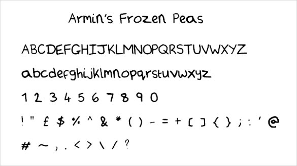 frozen handwritten fonts download