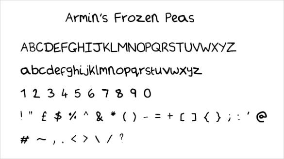 frozen handwritten fonts download