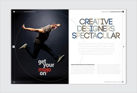 magazine and newsletter indesign brochure template download