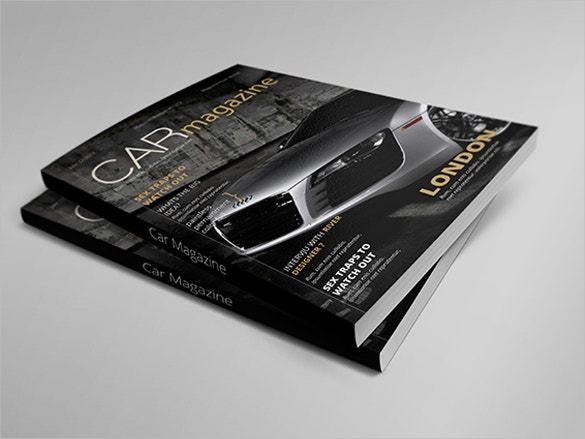 car magazine indesign brochure template download