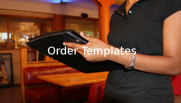 order template11