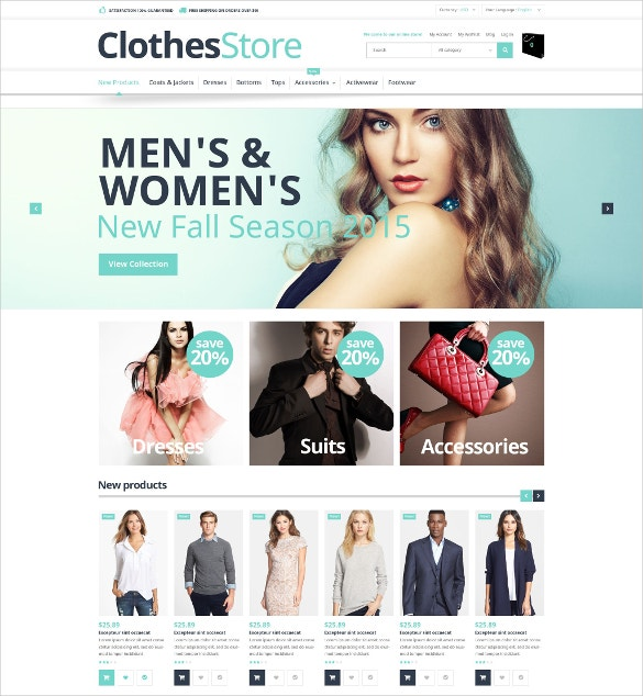 free magento fashion template