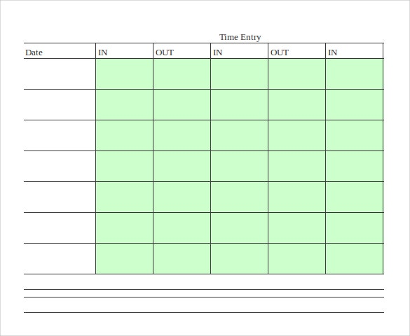MS Excel Bi Weekly Timesheet Template